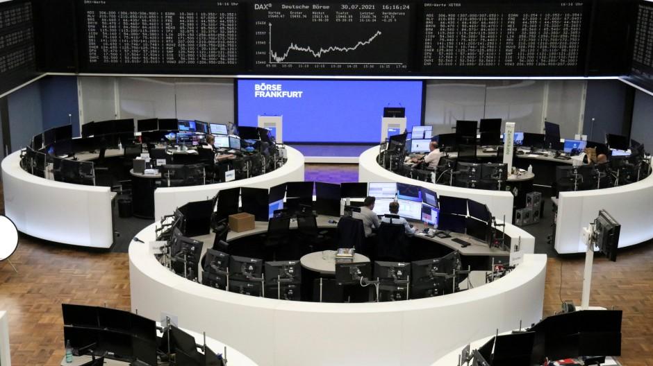 Der Handelssaal in der Frankfurter Börse.
