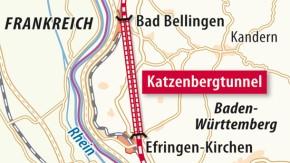 Karte / Baden-Württemberg / Katzenbergtunnel