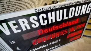 Nordrhein-Westfalen verschuldet sich am meisten