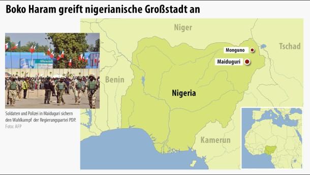 Boko Haram greift Großstadt Maiduguri an
