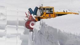 Zu viel Schnee am Timmelsjoch