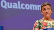 EU-Wettbewerbshüterin Margrethe Vestager verkündet die Entscheidung über Qualcomm