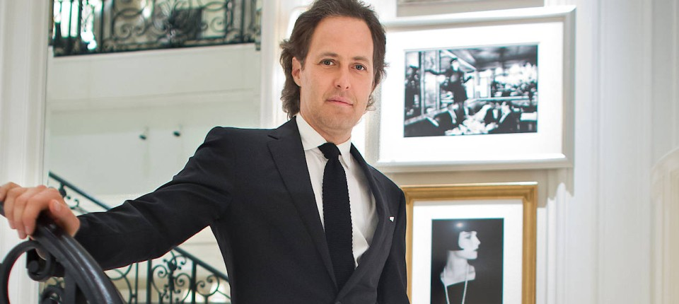 Laufschuhe diversifiziert in der Verpackung Junge Ralph-Lauren-Sohn David Lauren im Porträt