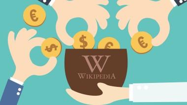 Wikipedia ruft die Deutschen zum Spenden auf.