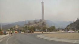 Brand gefährdet Kraftwerk