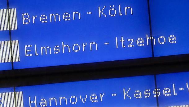 Bahnfahrten am Sonntag und Montag eingeschränkt