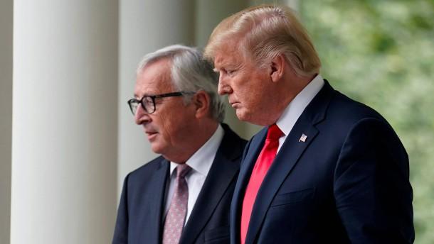 Juncker vertraut auf Trumps Wort