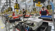 Im Abschwung: Die Industrie in Hessen schwächelt.