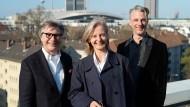 Verleger und Veranstalter: Axel Dielmann, Anya Schutzbach und Silvio Mohr-Schaaff (von links).