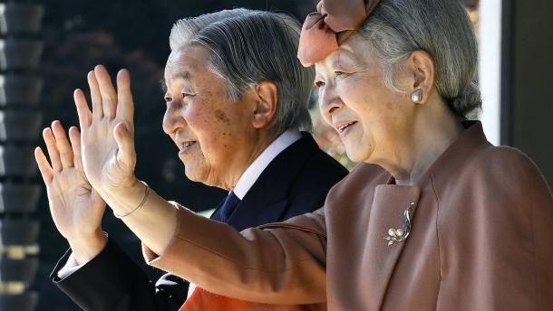 Japans Kaiser dankt im April 2019 ab