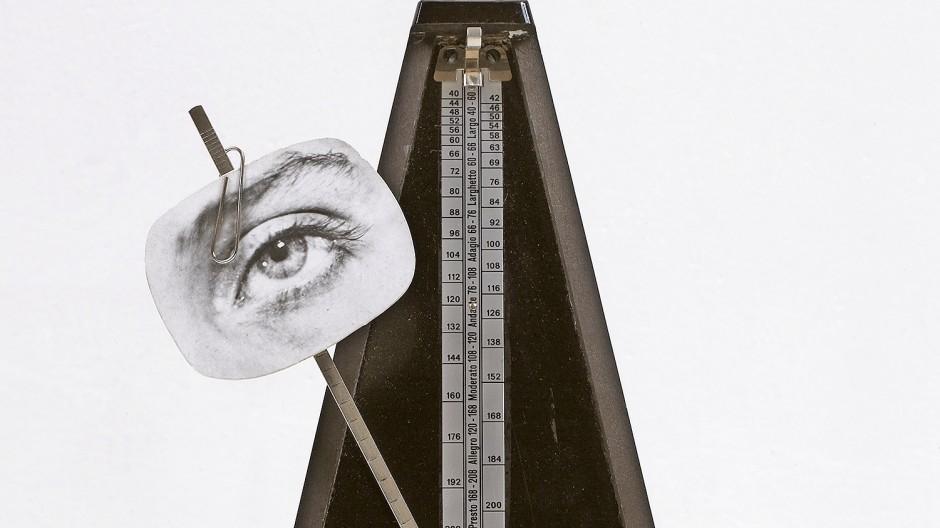 """Kunst der Zusammenstellung: Das Multiple """"Indestructible Object"""" (1923/65) besteht aus einem Metronom, einer Heftklammer und einem Foto."""