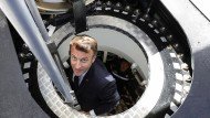 "Emmanuel Macron hat das neue U-Boot ""Suffren"" direkt persönlich inspiziert."