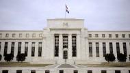 Das Gebäude der amerikanischen Notenbank Federal Reserve in Washington