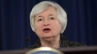 Leitzins weiter nahe Null: Janet Yellen, die Präsidentin der amerikanischen Notenbank, erklärt ihre Konjunkturpolitik.