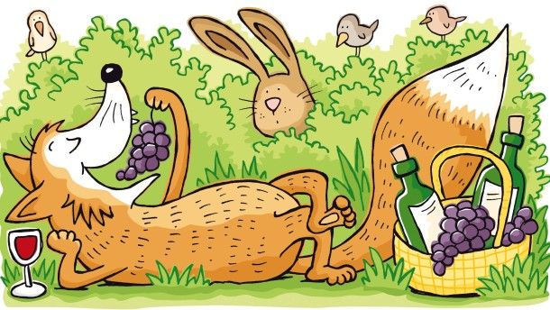 Wie der Fuchs in den Wein kam