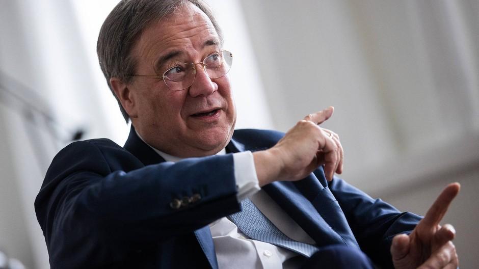 Das erste Interview nach seiner Wahl zum CDU-Vorsitzenden: Ministerpräsident Armin Laschet in der Düsseldorfer Staatskanzlei.