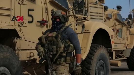 Amerikanische Armee patrouilliert Ölfelder