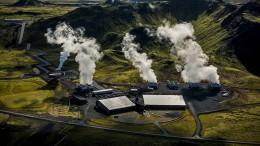 Isländer pressen CO2 zu Stein