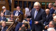"""""""Wir haben Verhandlungskapital verbrannt"""": Boris Johnson bei seinem ersten Auftritt nach seinem Rücktritt im Parlament"""