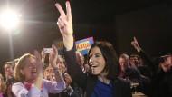 Liberale, mal wieder ausgelassen: Spitzenkandidatin am Samstag bei der FDP-Wahlparty in Hamburg