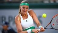 Kristina Mladenovic musste sich am Dienstag gegen Timea Bacsinszky aus der Schweiz mit 4:6, 4:6 geschlagen geben.