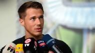 Hat viel vor bei der Eintracht: Erik Durm steht Rede und Antwort.