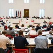 Der Plenarsaal des Brandenburgischen Landtags