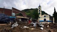 Unter Schlamm begraben: das zerstörte Stadtzentrum von Xaltepec.