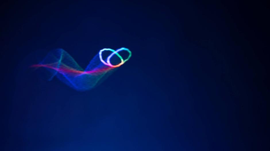 Noch sind die simulierten Objekte eher simpel, aber das immerhin bewegt in drei Dimensionen.