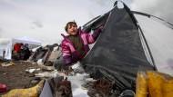 Im Niemandsland: Flüchtlingskinder an der mazedonisch-serbischen Grenze