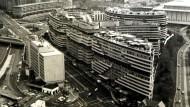 Der Watergate-Komplex in Washington: Unterlagen, die dort beim Einbruch in das Hauptquartier der Democratic Party entwendet wurden, führten letztlich zum Rücktritt von Präsident Nixon am 9. August 1974 (Aufnahme von 1972)