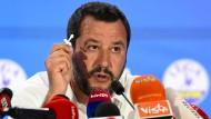 Innenminister und Lega-Chef Salvini bei einer Pressekonferenz nach der Europawahl