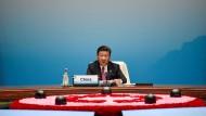 Xi Jingping während des BRICS-Forums in Xiamen