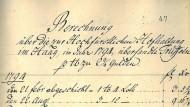 Lieferung von Trüffeln nach Den Haag, 1794
