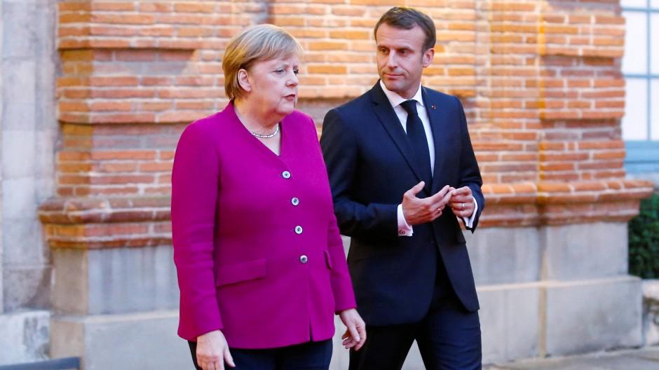 Merkel und Macron im Oktober in Toulouse