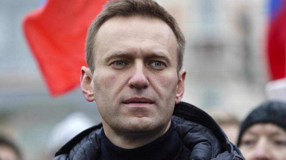 Nawalny wurde bei der einer nicht genehmigten Solidaritätskundgebung in Moskau festgenommen.