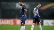 Enttäuschte Gesichter bei Hoffenheims Gnabry, Hoffenheim scheidet in der Europa League aus.