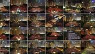 Bilder des Viktoria-Parks in Hongkong von 1997 bis 2020, jeweils am 4. Juni
