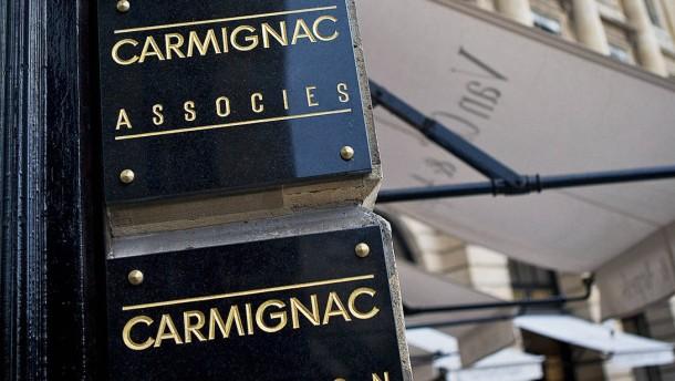 Edouard Carmignac, Eric Le Coz, Eric Helderlé, Frédéric Leroux - die Pariser Banker sind bei der französischen Fondsgesellschaft Carmignac Gestion. die Edouard Carmignac gegründet hat, für die Verwaltung von 10 Milliarden Euro Fondsvermögen verantwo