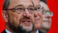 Bringen die SPD wieder voran? Martin Schulz (vorne), Stephan Weil und Thorsten Schäfer-Gümbel.