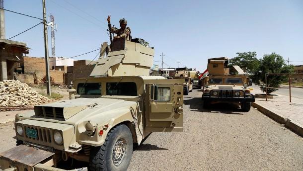 Irakische Armee auf dem Vormarsch nach Mossul