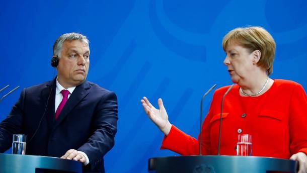 Merkel trifft Orbán: Ungarn will weiterhin keine Flüchtlinge zurücknehmen