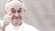 So viel Spaß macht das Papstsein nicht immer. Heute musste Franziskus den amerikanischen Präsidenten Donald Trump empfangen.