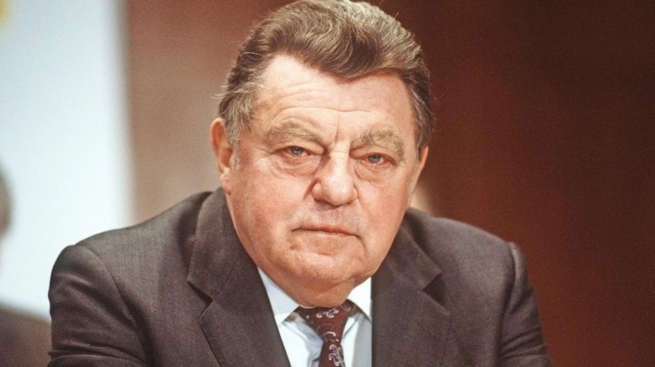 Der frühere CSU-Vorsitzende Franz Josef Strauß