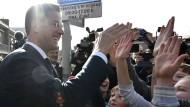 Gute Stimmung beim Gewinner: Mark Ruttes VVD bekam die meisten Stimmen. Woran lag das?