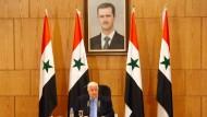 Syriens Außenminister Walid al Moallem auf einer Pressekonferenz Mitte März 2016