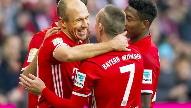 Die stürmischen Senioren des FC Bayern