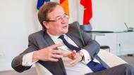 Der nordrhein-westfälische Ministerpräsident Armin Laschet im Interview mit der F.A.Z.