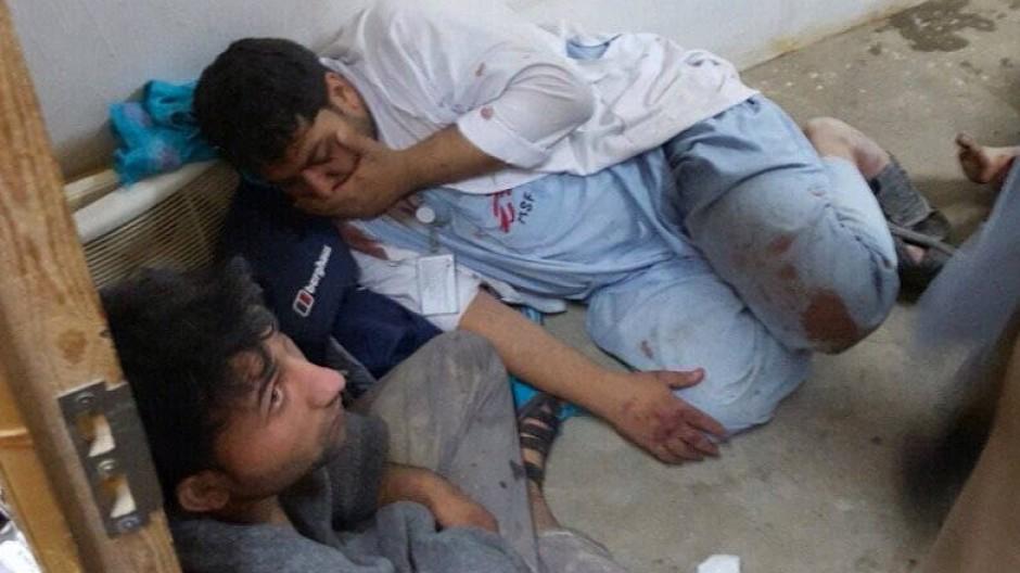 Verletzte im Krankenhaus in Kundus