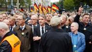 Pegida-Gründer Lutz Bachmann und Thüringens AfD-Vorsitzender Björn Höcke in Chemnitz